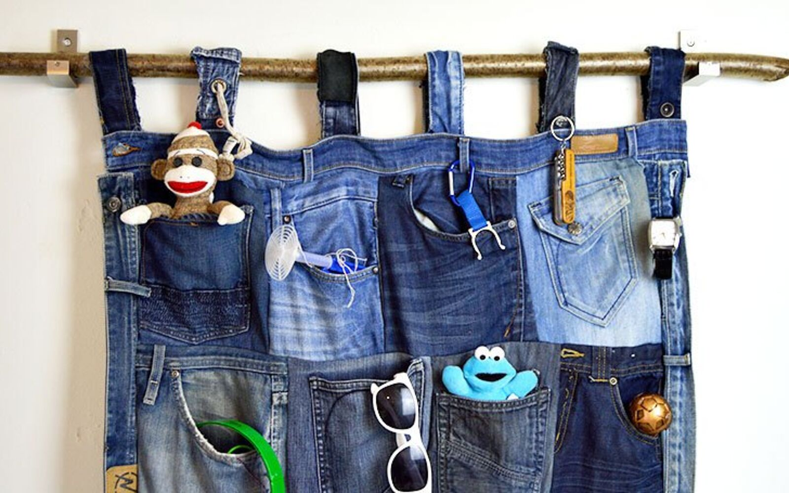 s 30 fun ways to keep your home organized, Snip Up Your Jeans For A Pocket Organizer