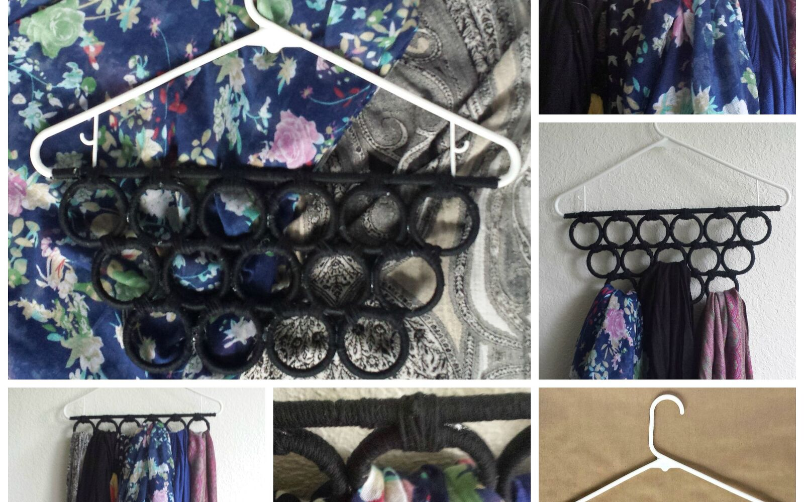 s 30 fun ways to keep your home organized, Use A Hanger For Your Scarves With Rings