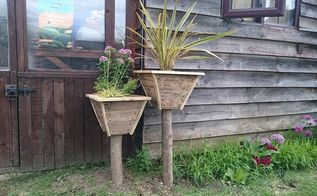 rustic pyramid planter