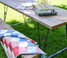 curbside junk becomes beautiful picnic table