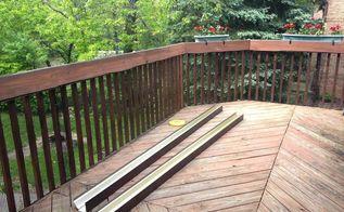 easy gutter garden for a deck