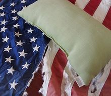a salvaged flag transformed into an americana pillow
