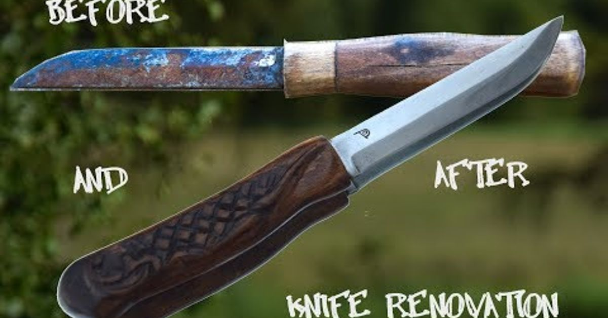 Make Brand New Carved Knife From Rusty Old Trash Hometalk
