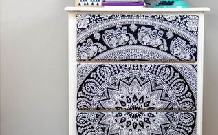 diy tapestry dresser