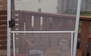 q i have this old sliding screen door that doesn t work anymore