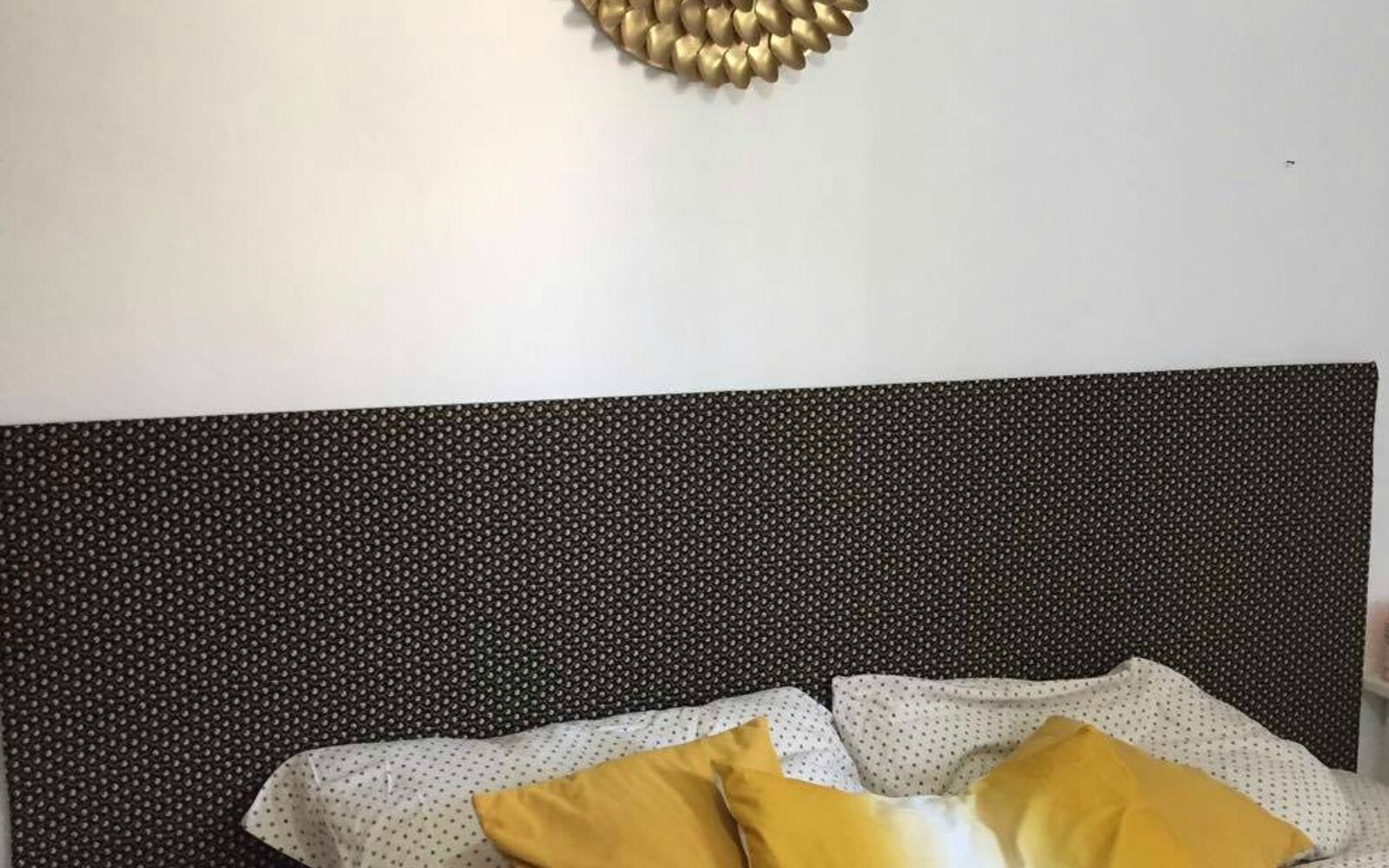 s 15 makeovers that will make you rethink your bedroom, Brighten The Bedroom With A Headboard