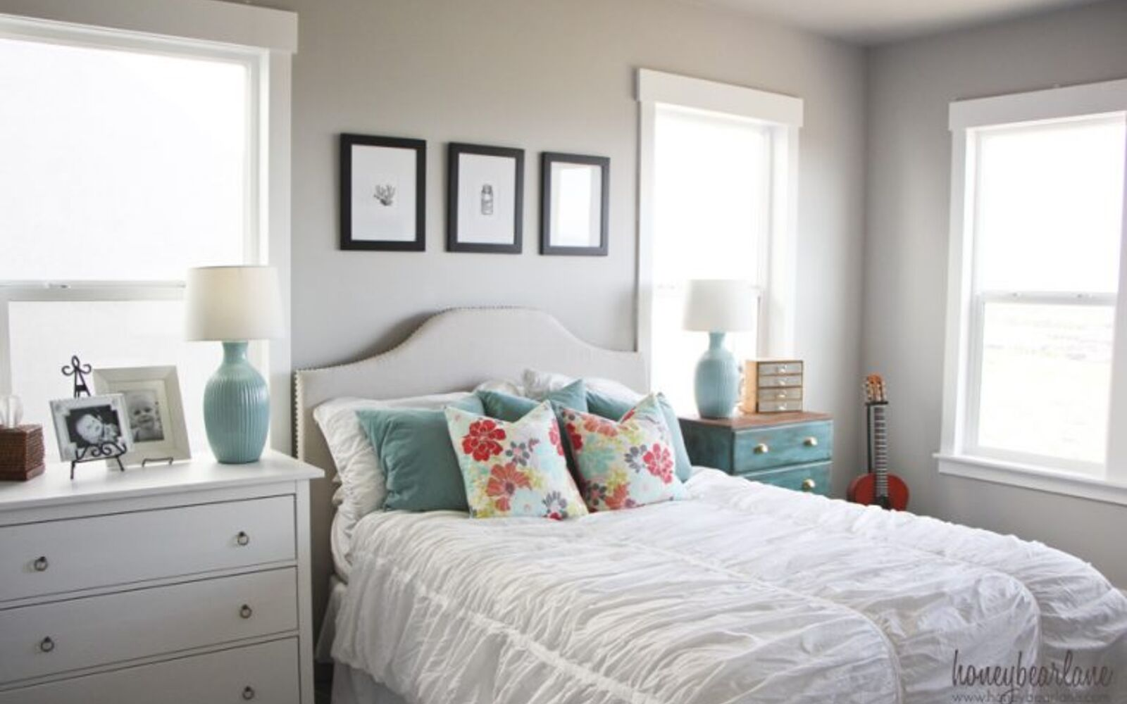s 15 makeovers that will make you rethink your bedroom, A Coastal Theme For Bringing In The Beach