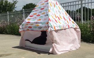 keep your dog cool in style by making a doggie cabana