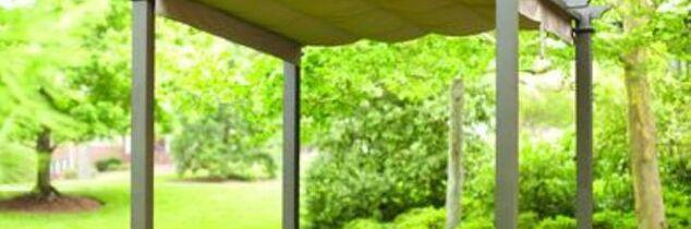 q how would i build a rain proof roof for my aluminum pergola