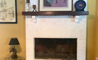 super simple fireplace makeover