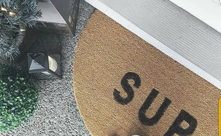 diy custom doormat for cheap