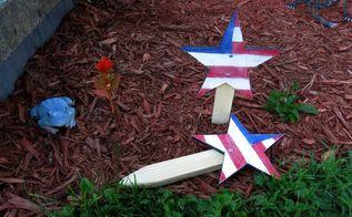 american flag garden stars