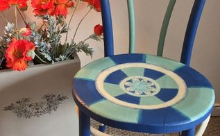 cheery chalk paint chair from 5 vintage find, Bright Cheery