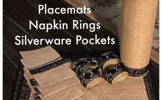 burlap no sew lace runner mats rings pockets