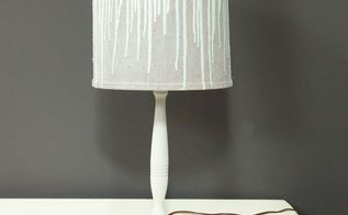 diy drip lampshade makeover