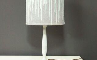 diy drip lampshade makeover