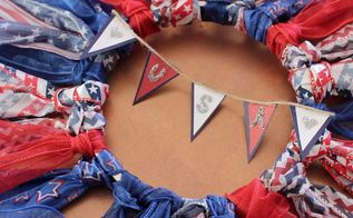 fourth of july rustic wreath