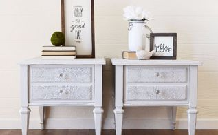 lace embossed end tables