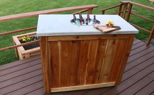 how to make a patio party bar diy