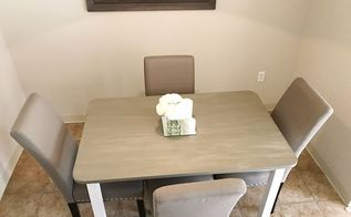diy grey weathered wood table
