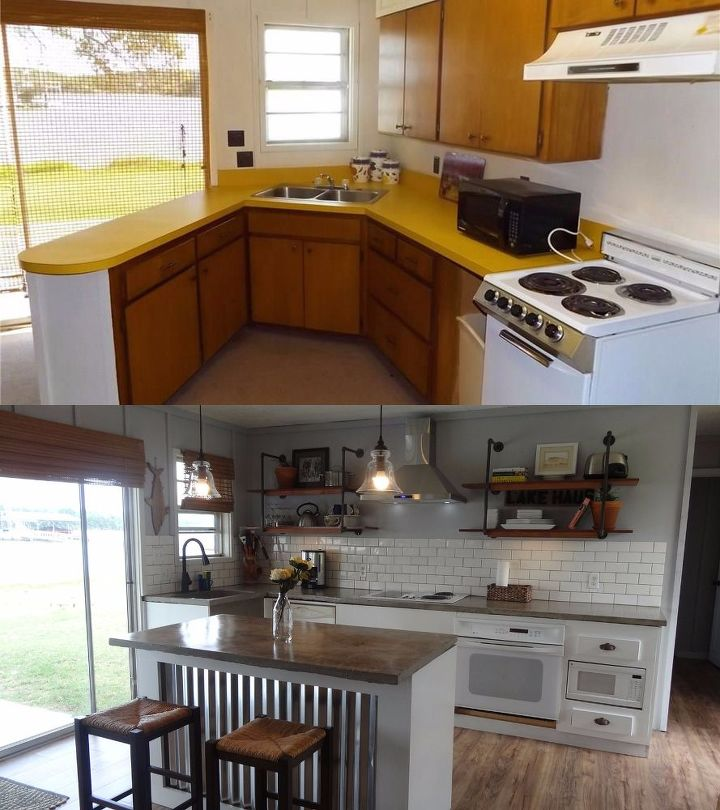 Complete kitchen renovation on a tiny budget hometalk for Complete kitchen remodel price