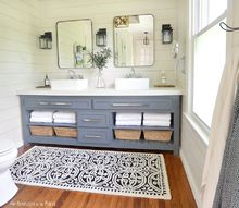 budget en suite master bathroom reveal