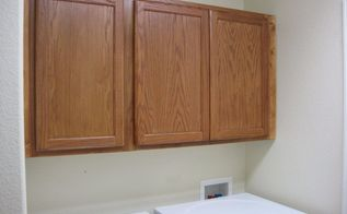 installing cabinets in the laundry room
