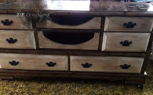 ugly dresser turned into a beautiful tv stand