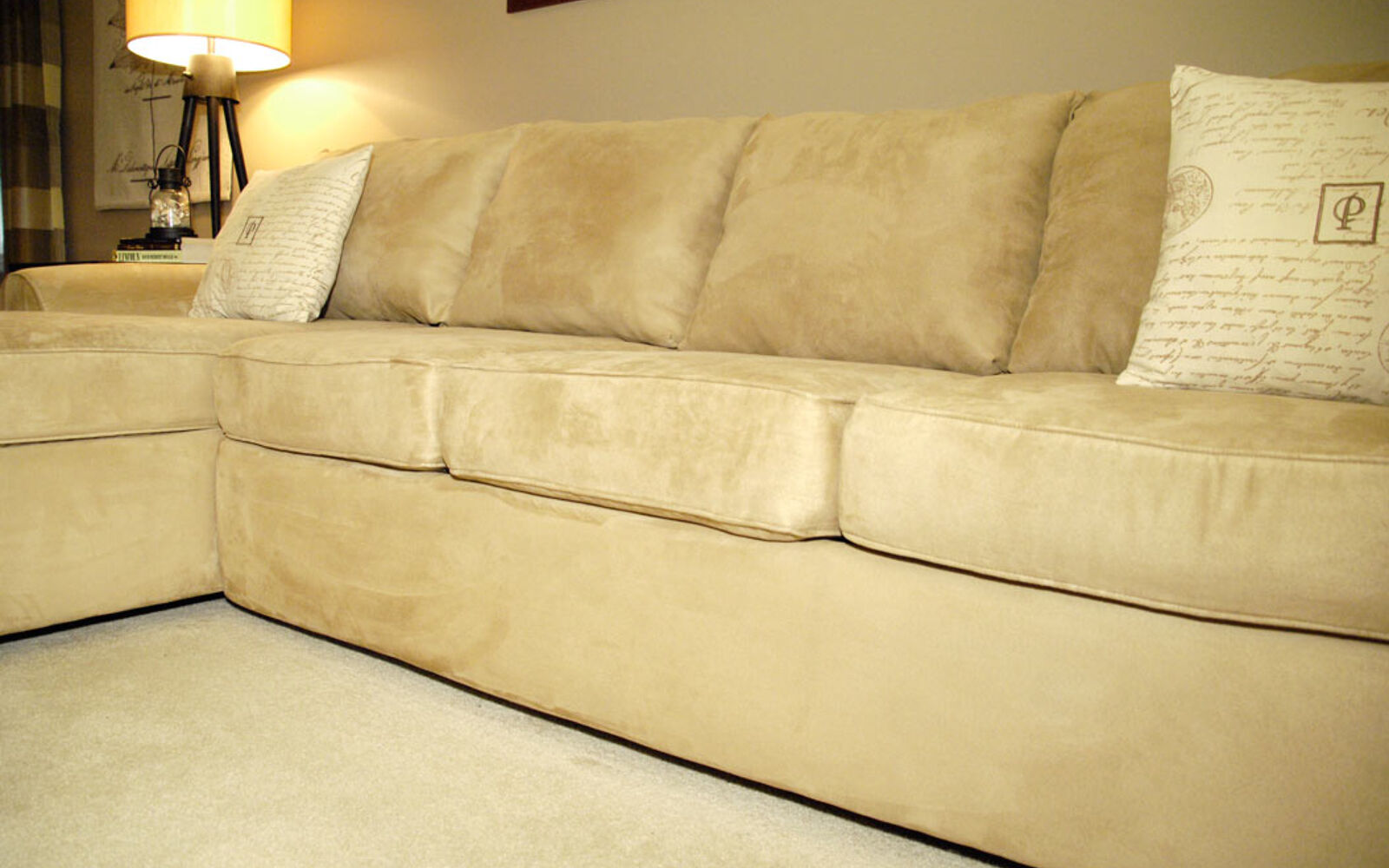 s hide your couch s wear and tear with these great ideas, Make an old couch new again for 10