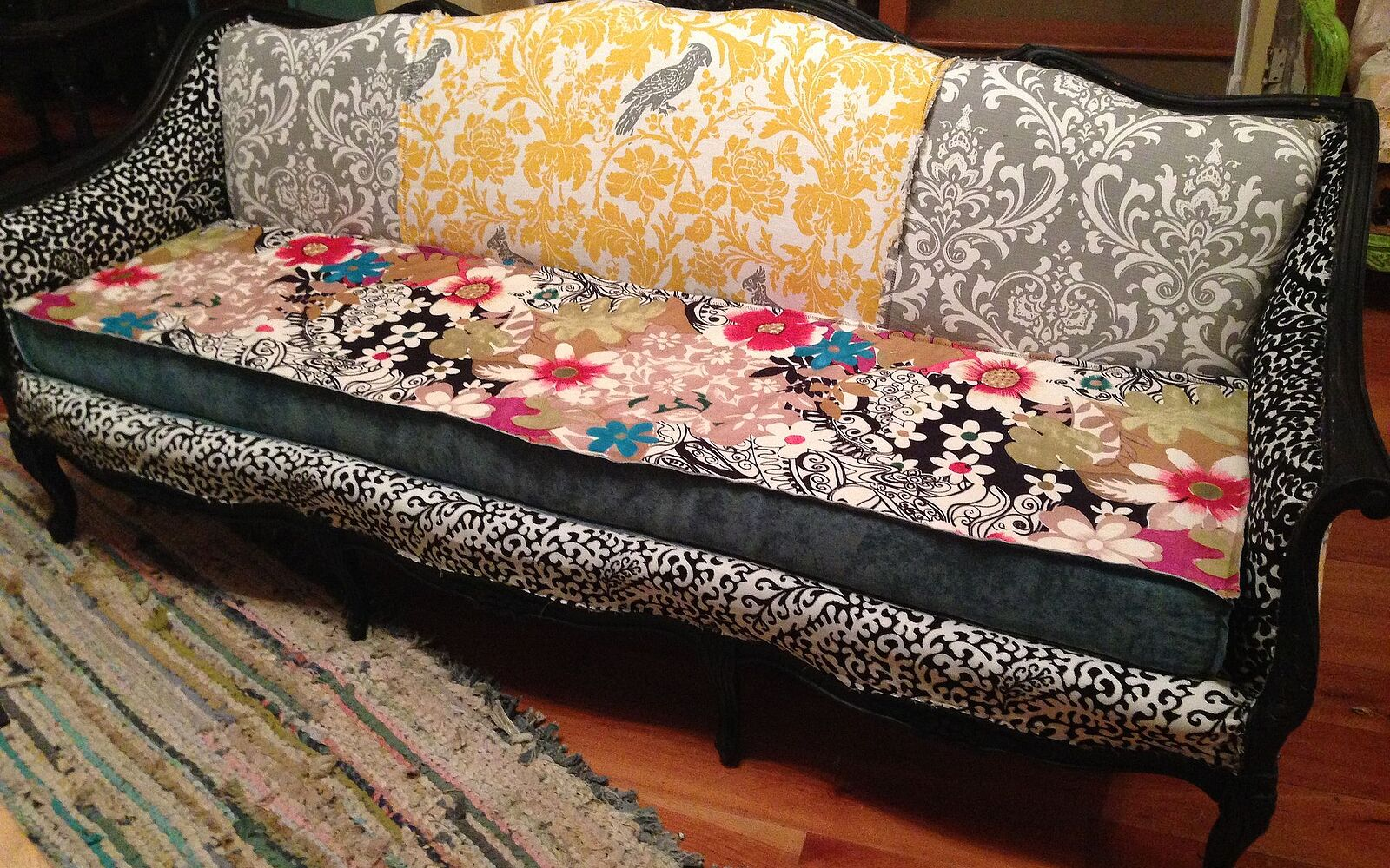 s hide your couch s wear and tear with these great ideas, From the dumpster to the living room