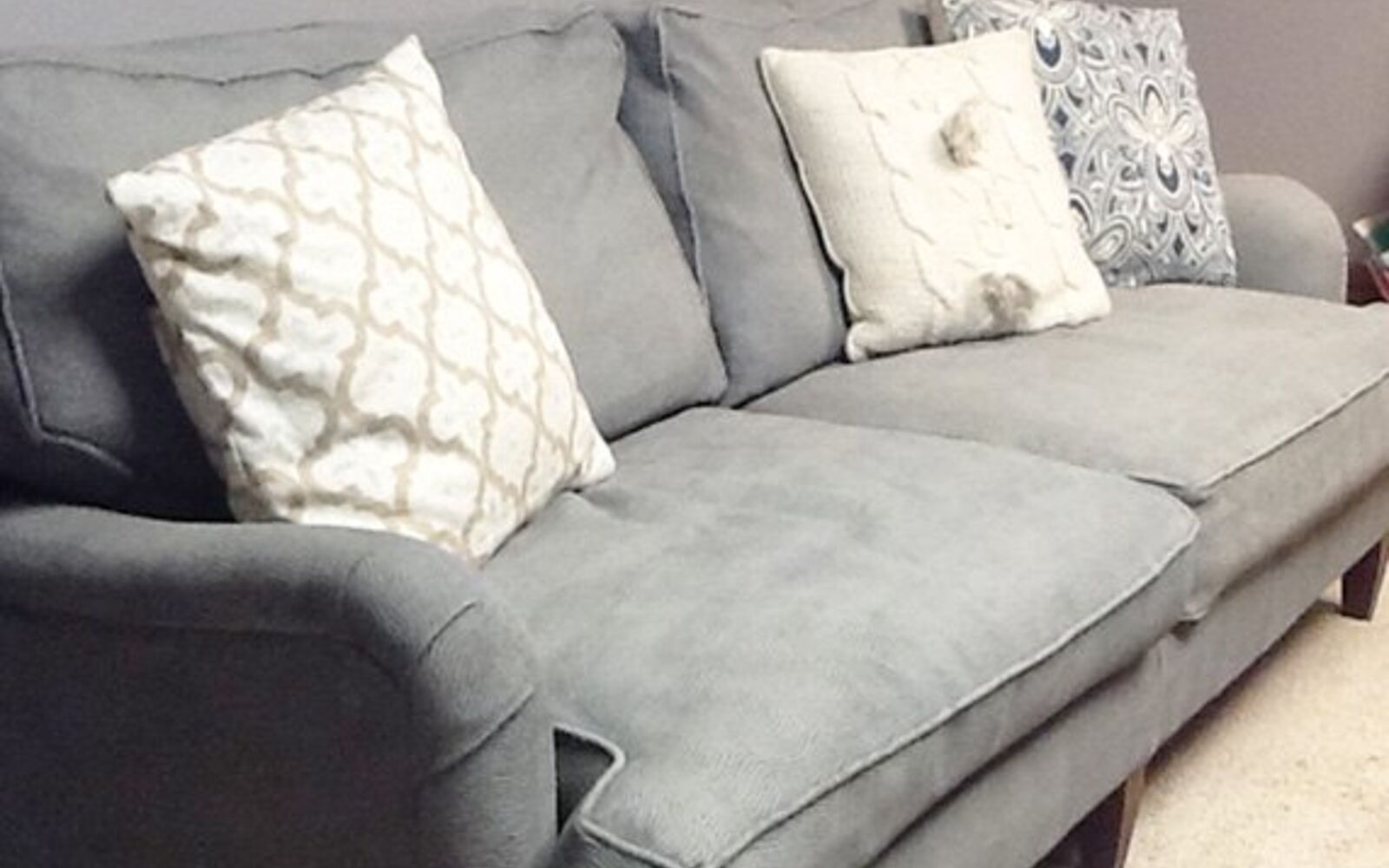 s hide your couch s wear and tear with these great ideas, Painting a couch with chalk paint