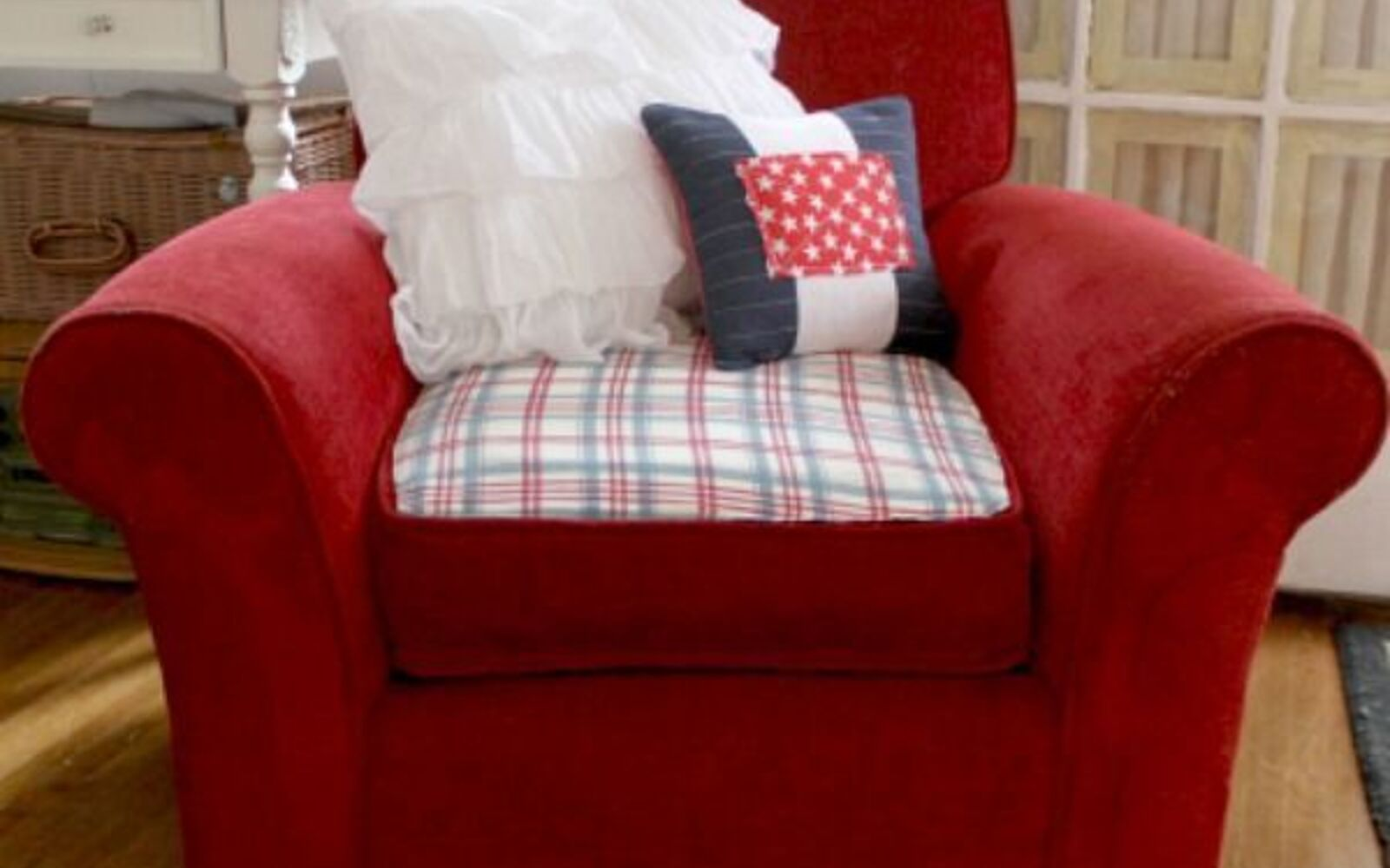 s hide your couch s wear and tear with these great ideas, Add patches to ribbed cushions and corners