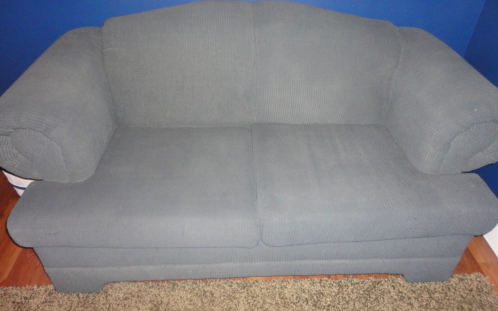 s hide your couch s wear and tear with these great ideas, Painted couch transformation
