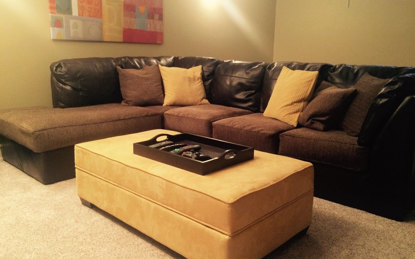 s hide your couch s wear and tear with these great ideas, From throwaway couch to a comfy new one