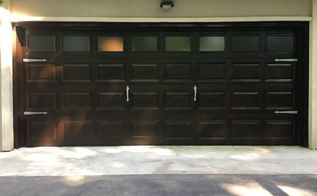garage door diy makeover white fiberglass to wood