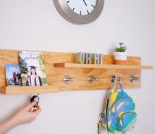 diy coat rack with magnets