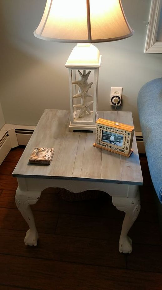 Beachy Coastal End Tables Final Project In My Living Room