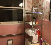q how can i paint an iron bath tub and how to paint pink ceramic tiles