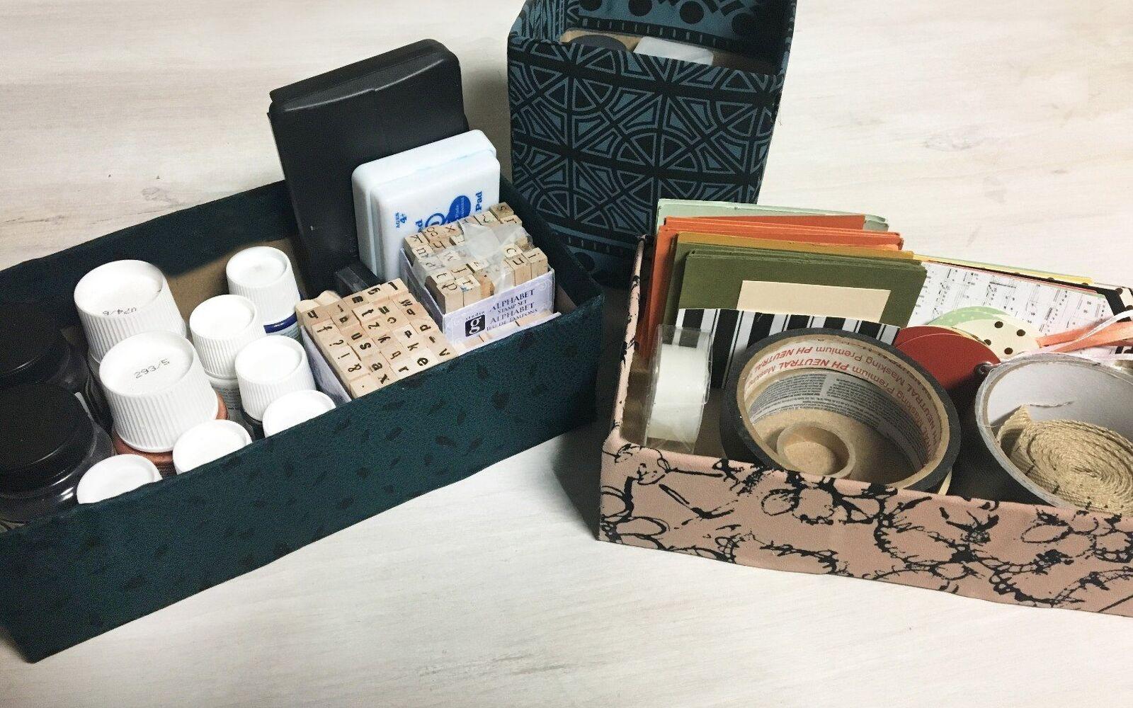 s 32 space saving storage ideas that ll keep your home organized, Transform a tissue box into a storage bin