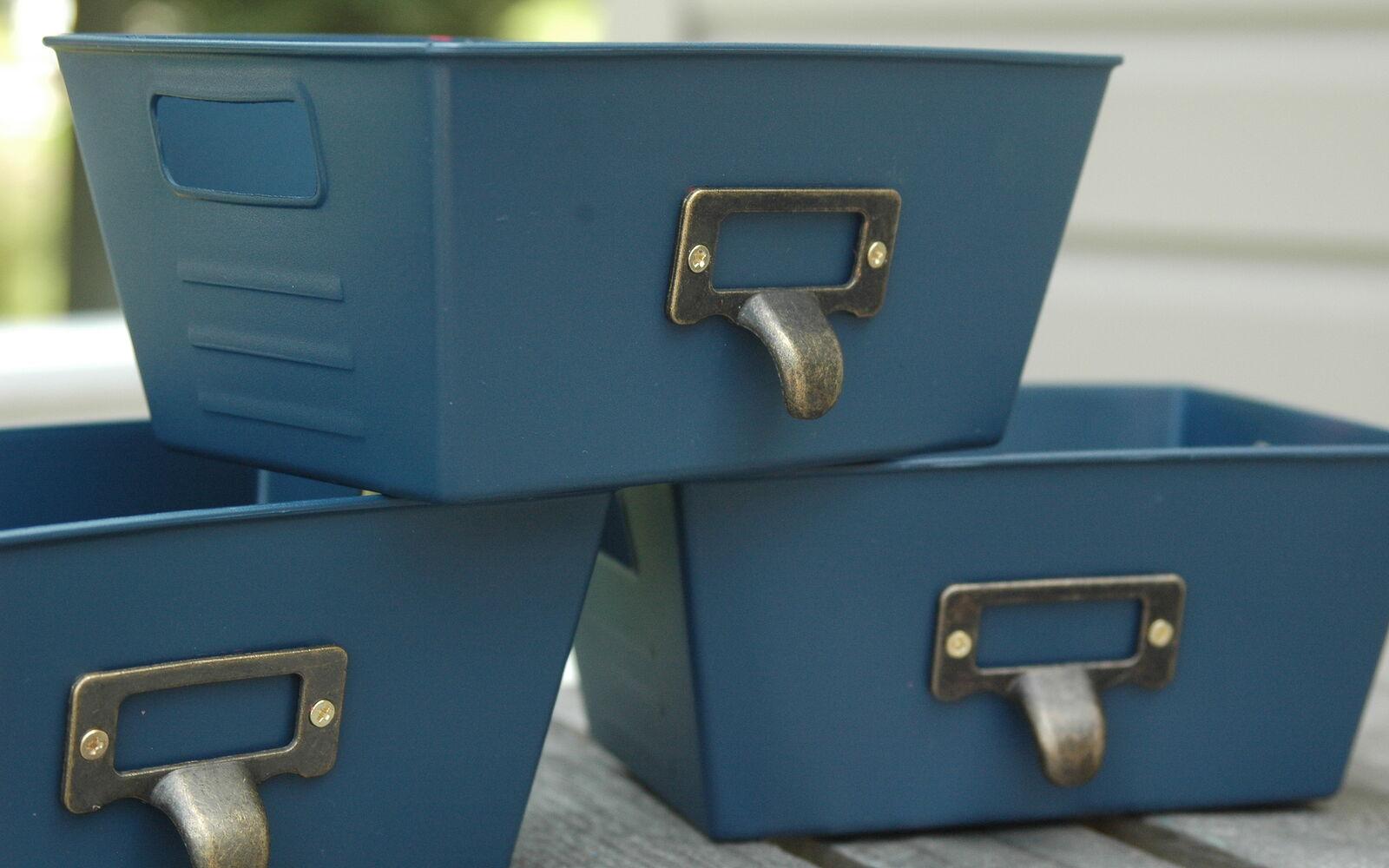 s 32 space saving storage ideas that ll keep your home organized, Spray paint bins into locker storage
