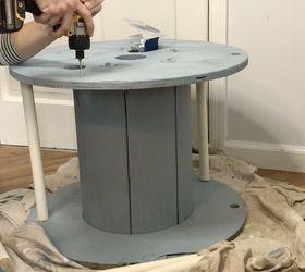 Electrical Spool Bookshelf Table