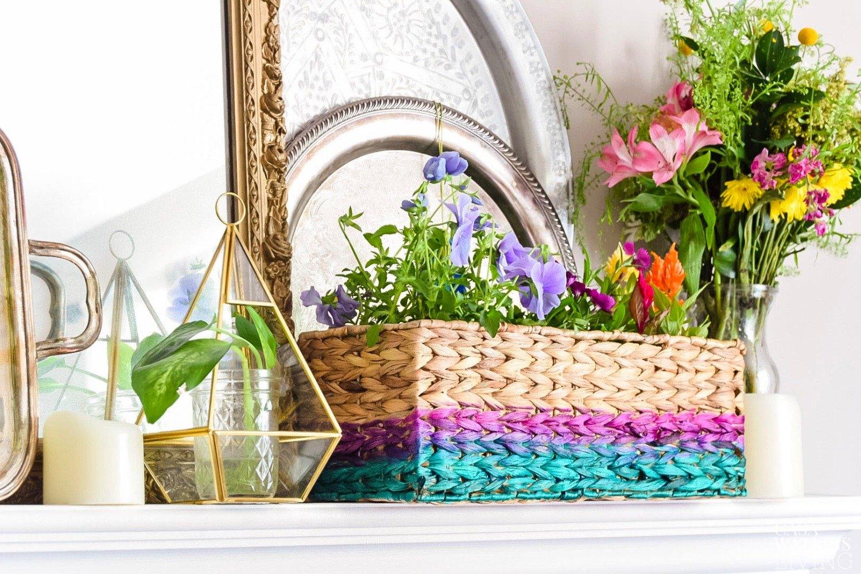 Dye A Basket Into An Ombre Decor Piece