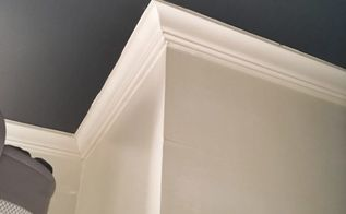 don t paint your ceiling white try this, After the dark painted ceiling