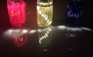 patriotic solar lights, Shining brightly