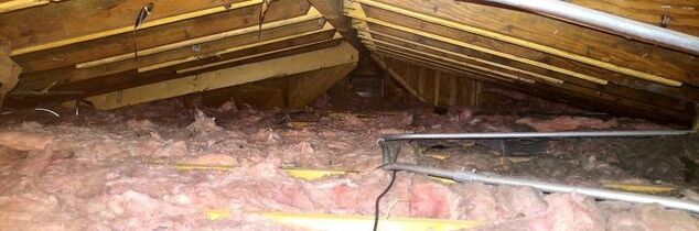 q attic insulation very low height
