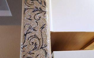 stenciled wall arch