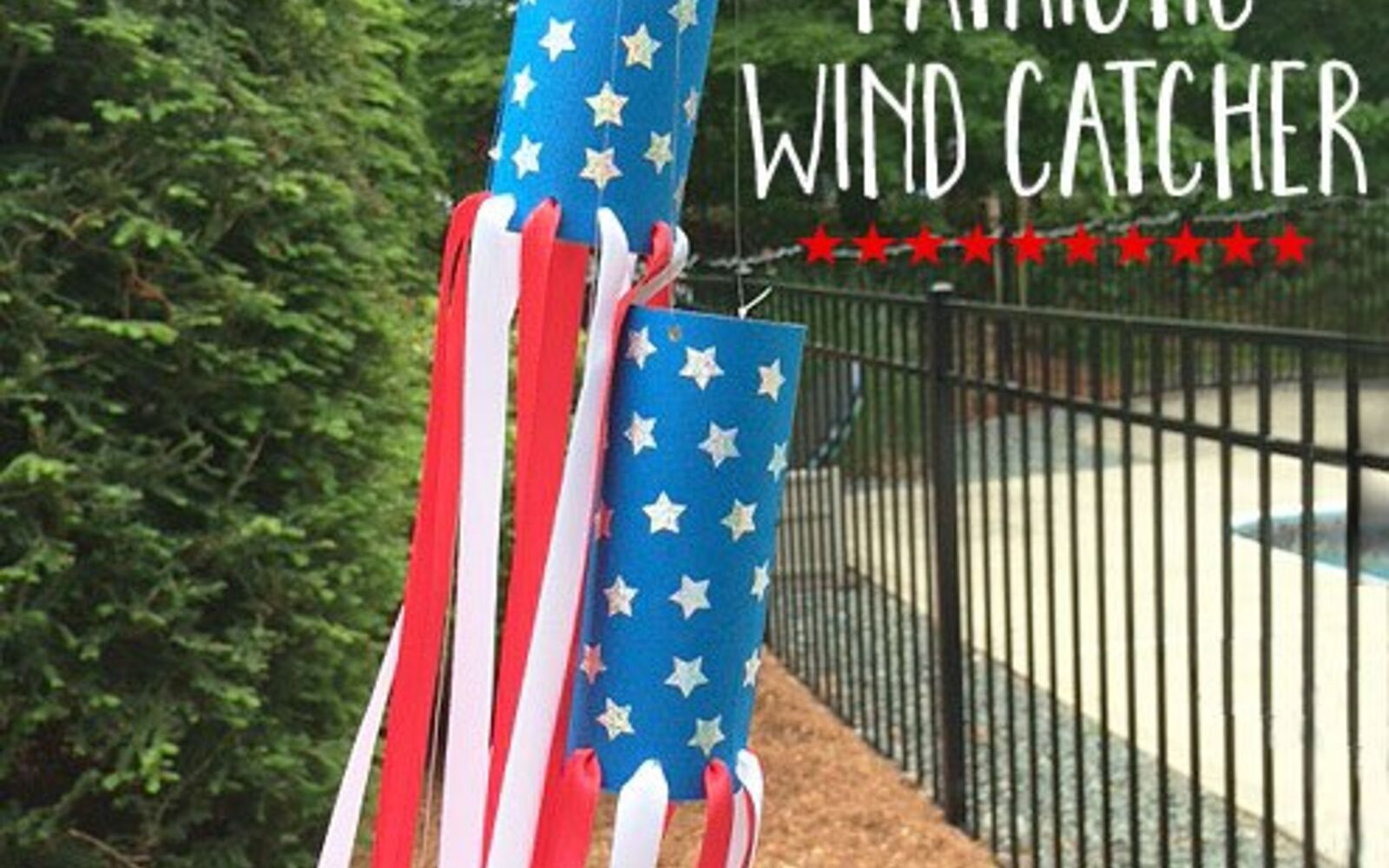 s 30 adorable diy ideas for july 4th, Or an adorable wind catcher