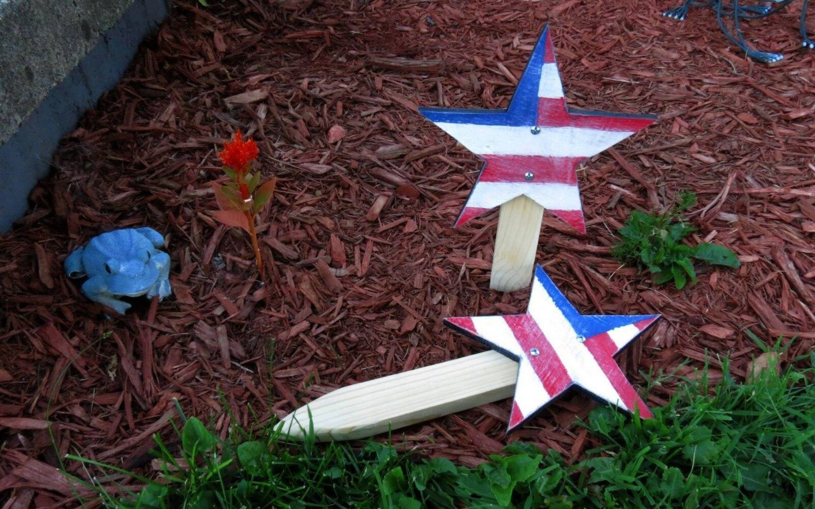 s 30 adorable diy ideas for july 4th, Add patriotic stars to your garden