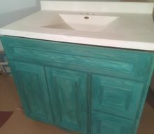 bathroom vanity in custom color