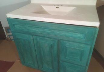 bathroom vanity in custom color